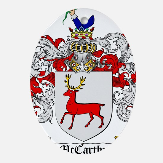 McCarthy Family Crest Ornament (Oval)