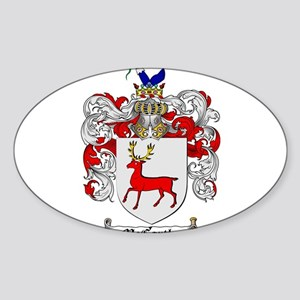 McCarthy Family Crest Sticker (Oval)