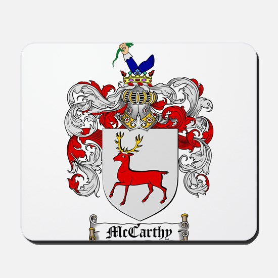 McCarthy Family Crest Mousepad