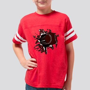 32194918_CRIMSON Youth Football Shirt