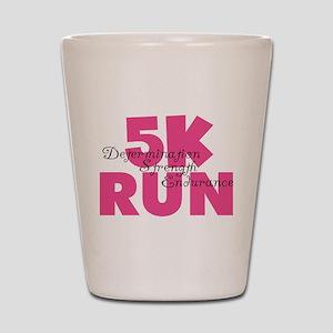 5K Run Pink Shot Glass
