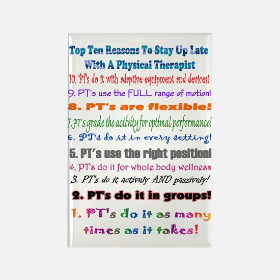 Up Late PT Top 10 Rectangle Magnet