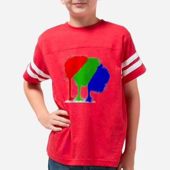 3-RGBBlack Youth Football Shirt