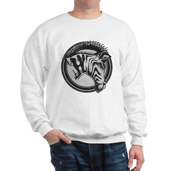 Distressed Wild Zebra Stamp Sweatshirt