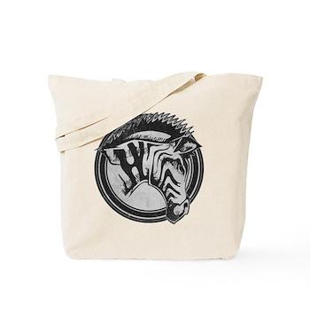 Distressed Wild Zebra Stamp Tote Bag