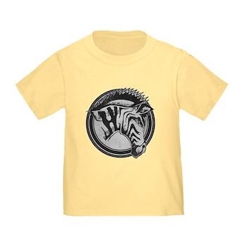 Distressed Wild Zebra Stamp Infant/Toddler T-Shirt