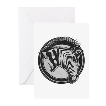 Distressed Wild Zebra Stamp Greeting Cards (10 pac