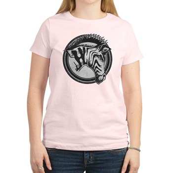 Distressed Wild Zebra Stamp Women's Light T-Shirt