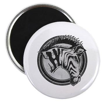 Distressed Wild Zebra Stamp 2.25
