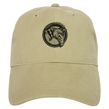 Distressed Wild Zebra Stamp Cap