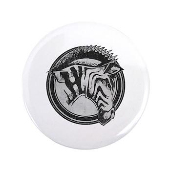 Distressed Wild Zebra Stamp 3.5