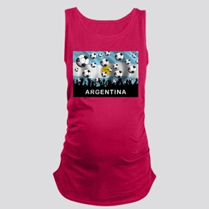 World Cup Argentina Maternity Tank Top