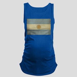 Vintage Argentina Flag Maternity Tank Top