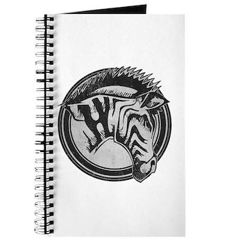 Distressed Wild Zebra Stamp Journal