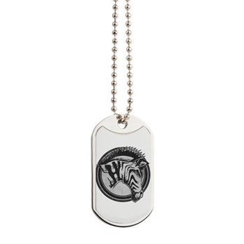 Distressed Wild Zebra Stamp Dog Tags