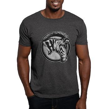 Distressed Wild Zebra Stamp Dark T-Shirt