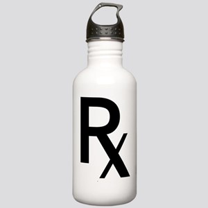 Pharmacy Rx Symbol Water Bottle