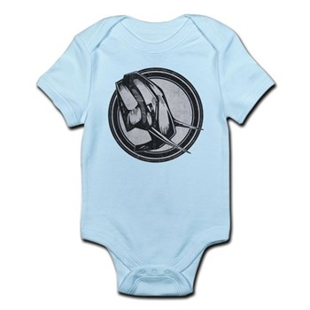 Distressed Wild Elephant Stamp Infant Bodysuit