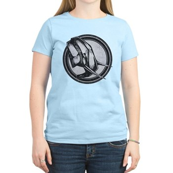 Distressed Wild Elephant Stamp Women's Light T-Shi