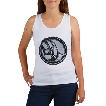 Distressed Wild Elephant Stamp Women's Tank Top