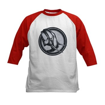 Distressed Wild Elephant Stamp Kids Baseball Jerse
