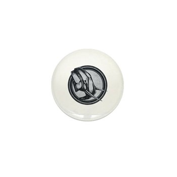 Distressed Wild Elephant Stamp Mini Button (10 pac