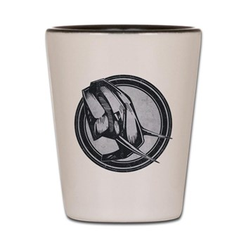 Distressed Wild Elephant Stamp Shot Glass
