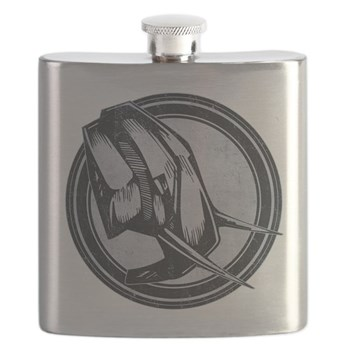 Distressed Wild Elephant Stamp Flask