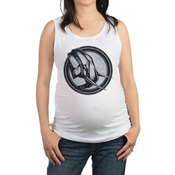 Distressed Wild Elephant Stamp Maternity Tank Top