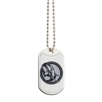 Distressed Wild Elephant Stamp Dog Tags