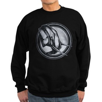 Distressed Wild Elephant Stamp Dark Sweatshirt