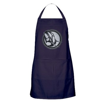 Distressed Wild Elephant Stamp Dark Apron