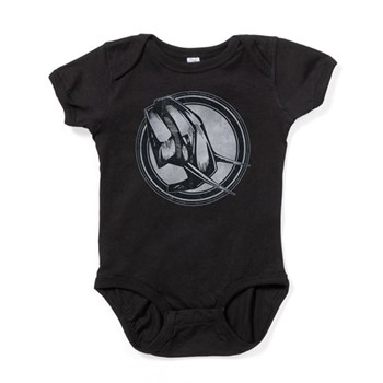 Distressed Wild Elephant Stamp Baby Bodysuit