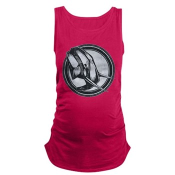 Distressed Wild Elephant Stamp Dark Maternity Tank