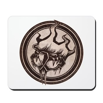 Distressed Wild Beaver Stamp Mousepad