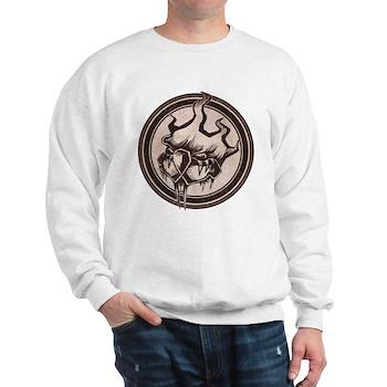 Distressed Wild Beaver Stamp Sweatshirt