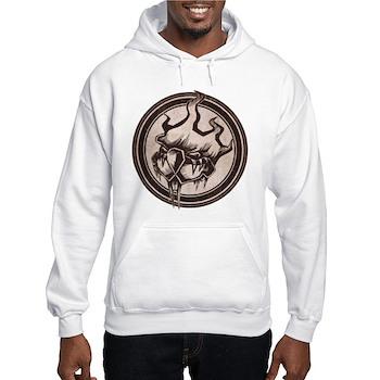 Distressed Wild Beaver Stamp Hooded Sweatshirt