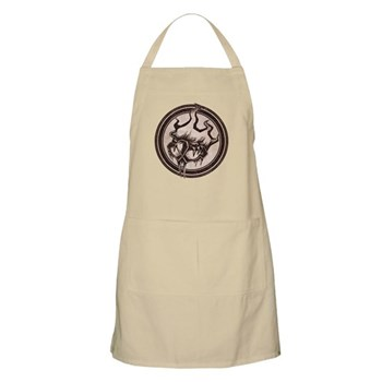 Distressed Wild Beaver Stamp Apron
