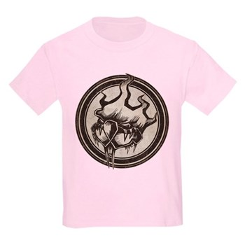 Distressed Wild Beaver Stamp Kids Light T-Shirt