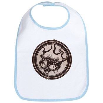 Distressed Wild Beaver Stamp Bib