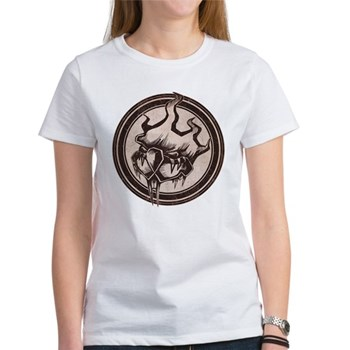 Distressed Wild Beaver Stamp Women's T-Shirt