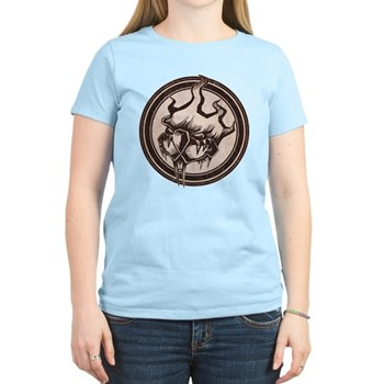 Distressed Wild Beaver Stamp Women's Light T-Shirt