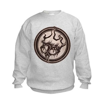Distressed Wild Beaver Stamp Kids Sweatshirt