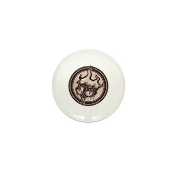 Distressed Wild Beaver Stamp Mini Button