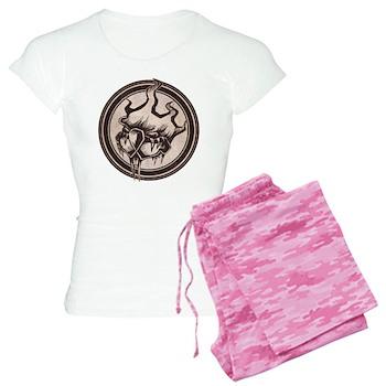 Distressed Wild Beaver Stamp Women's Light Pajamas