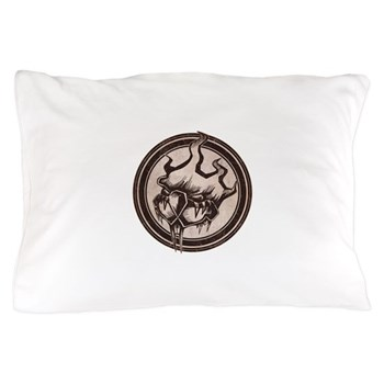Distressed Wild Beaver Stamp Pillow Case