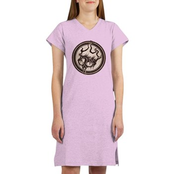 Distressed Wild Beaver Stamp Women's Nightshirt