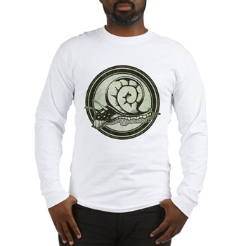 Distressed Wild Snail Stamp Long Sleeve T-Shirt