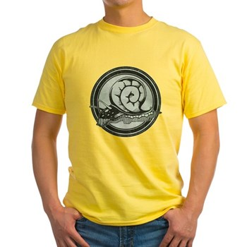 Distressed Wild Snail Stamp Light T-Shirt