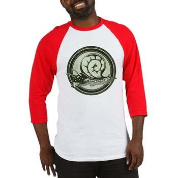 Distressed Wild Snail Stamp Baseball Jersey